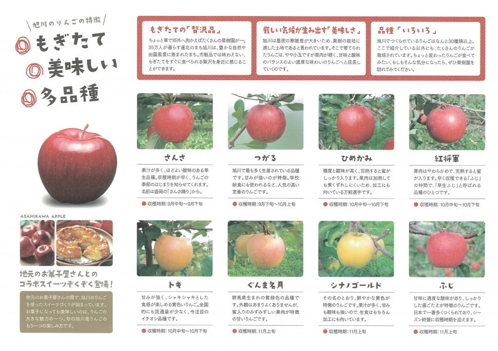 旭川のりんご種類