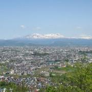 嵐山展望台からの眺め・旭川市内と大雪山連峰を一望できます