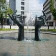 買物公園の象徴「手の噴水」