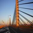 夕景のツインハープ橋