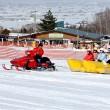 冬は雪遊びの体験ができます。画像はスノーバナナです。