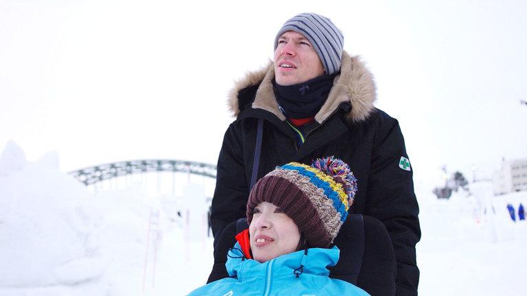 日本の旅 旭川:そりと車輪の冒険